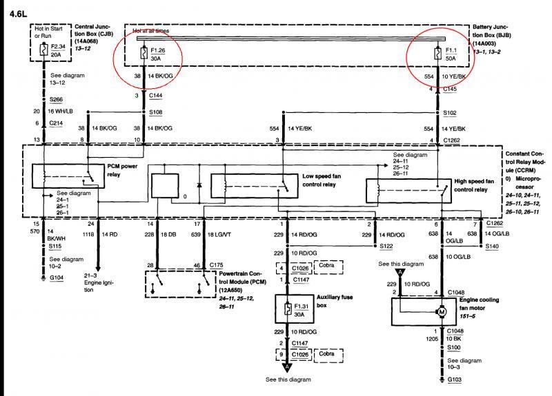 32 2006 Ford Mustang V6 Fuse Box Diagram