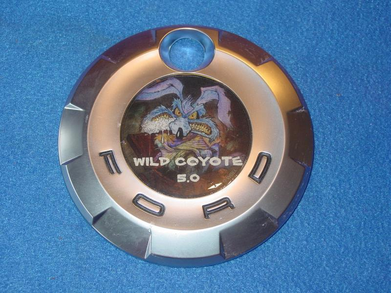 coyote emblem for early mustangs