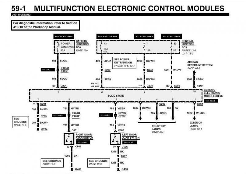 electrical problems-need new gem module? - page 2 on ford wiring diagram,  2000
